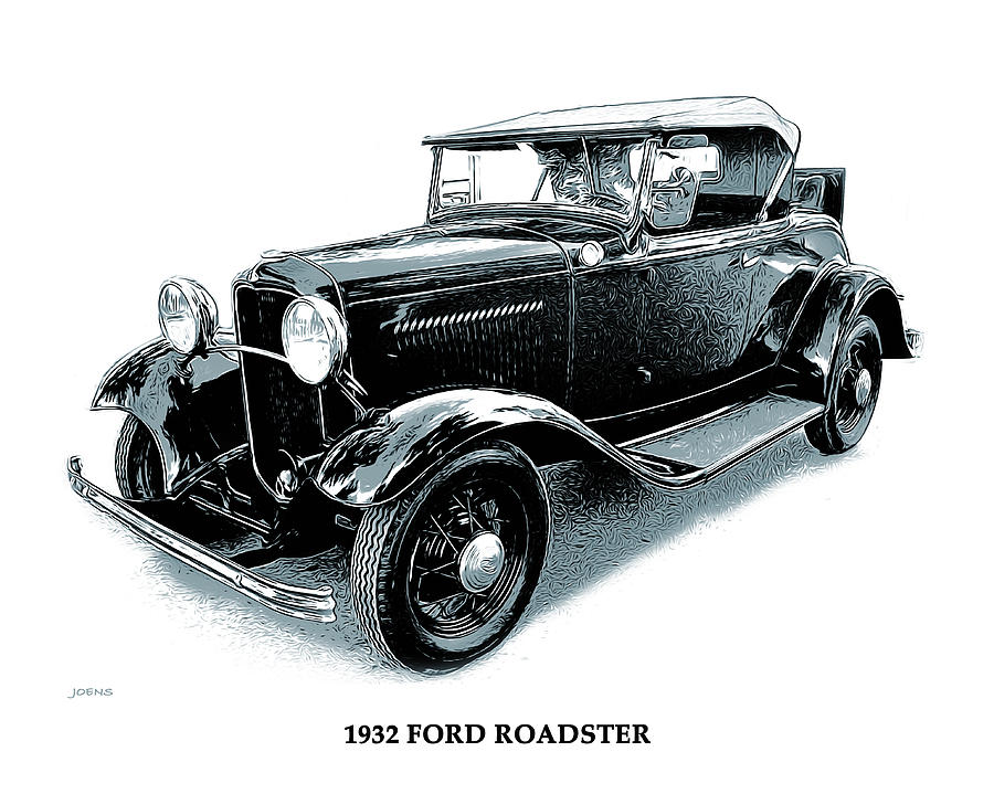 1932 Ford Roadster Mixed Media