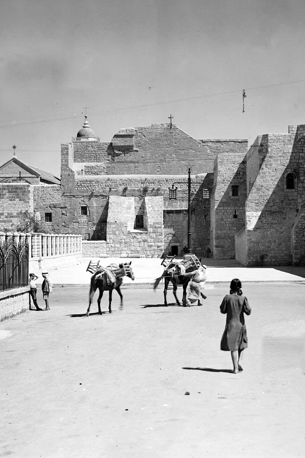 Bethlehem Photograph - 1934 And 1939 Bethlehem Nativity Church  by Munir Alawi