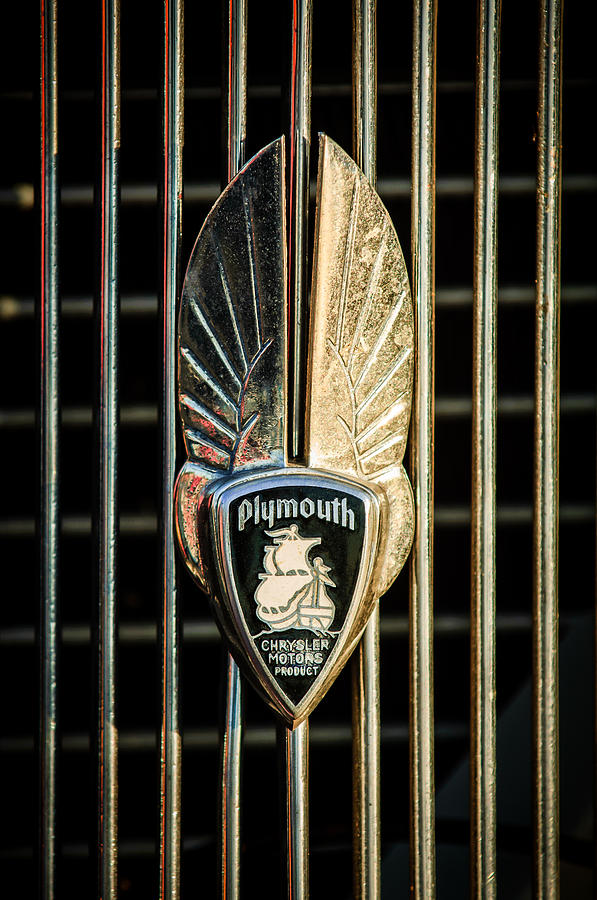 1934 Plymouth Emblem Photograph - 1934 Plymouth Emblem by Jill Reger