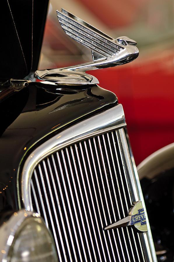 1935 Chevrolet Optional Eagle Hood Ornament Photograph