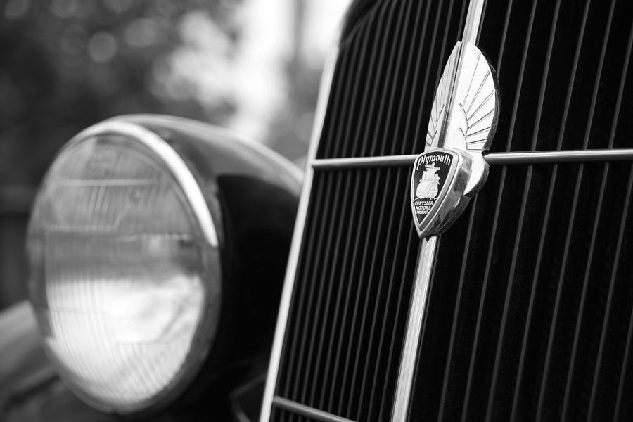1934 Photograph - 1935 Plymouth Emblem - Chrysler Motors Product by Gordon Dean II