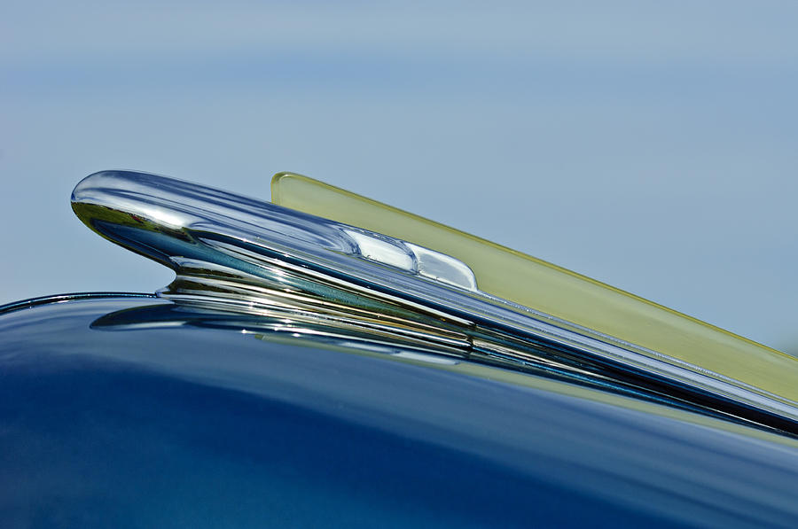 1948 Chevy Fleetline Photograph - 1948 Chevrolet Fleetline Hood Ornament by Jill Reger
