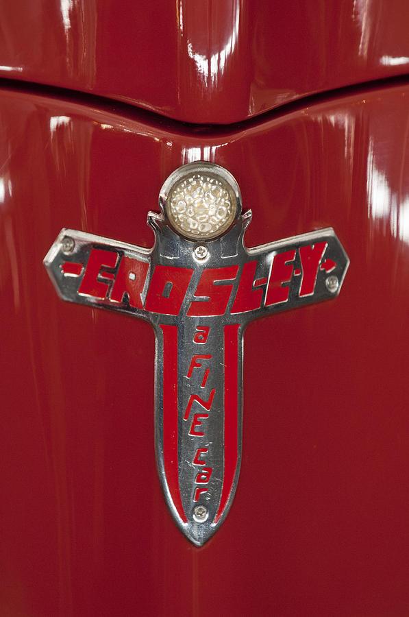 1948 Crosley Convertible Photograph - 1948 Crosley Convertible Emblem by Jill Reger