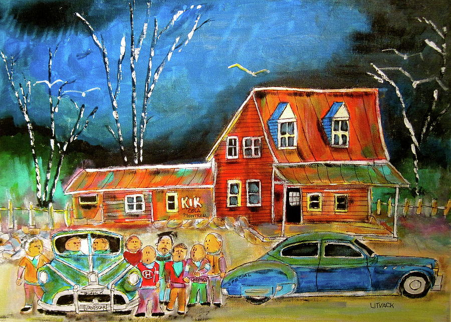 1949 Buick Sedanet Painting - 1949  Reunion by Michael Litvack