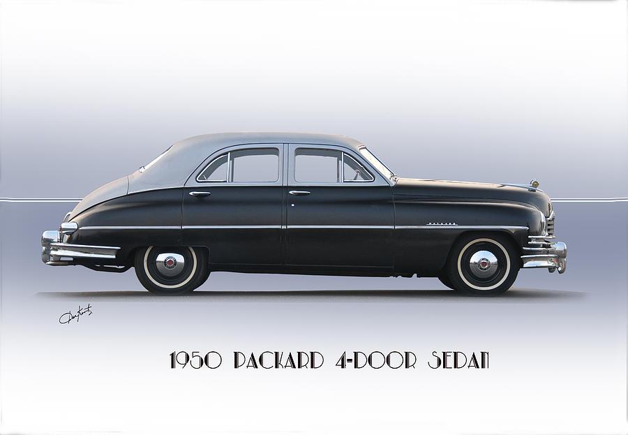 1950 packard four door sedan photograph by dave koontz