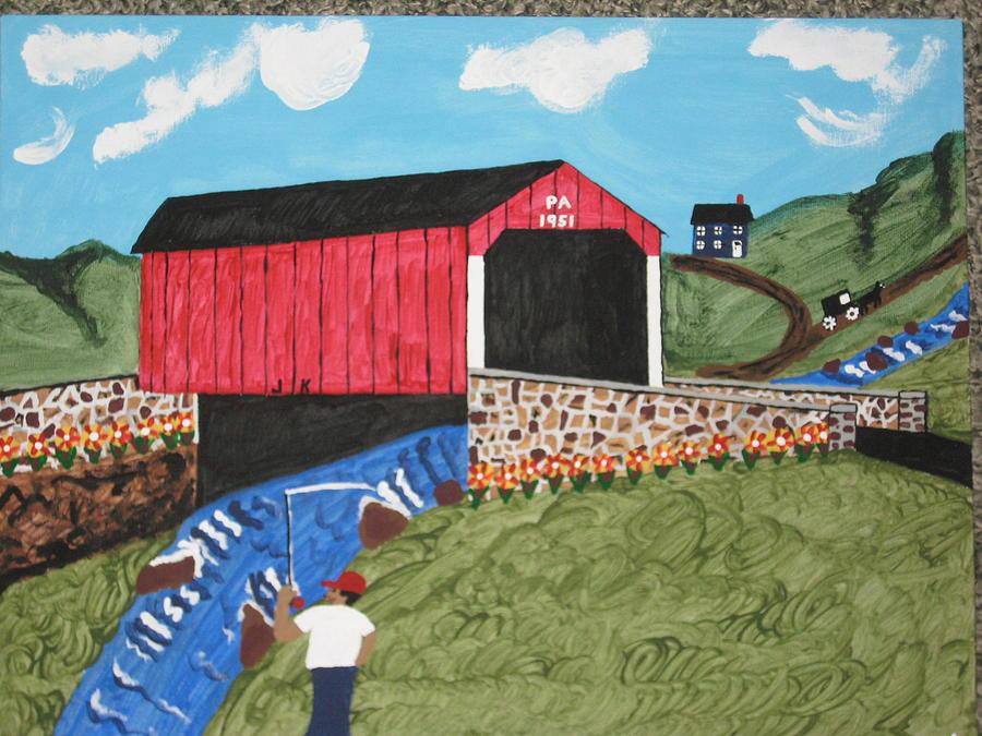 1951 Covered Bridge Painting