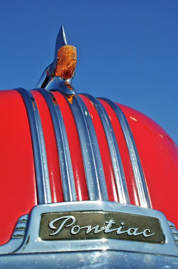 1951 Pontiac Chief Photograph - 1951 Pontiac Chief Hood Ornament 2 by Jill Reger