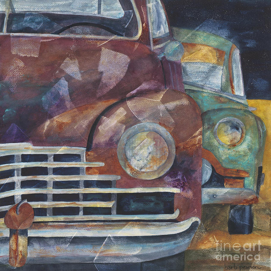 Automobile Painting - 1957 Classics by Barb Pearson