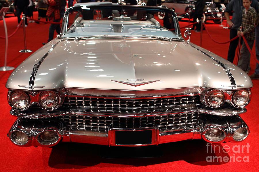 1959 Cadillac Eldorado Convertible Photograph - 1959 Cadillac Convertible . Front View by Wingsdomain Art and Photography