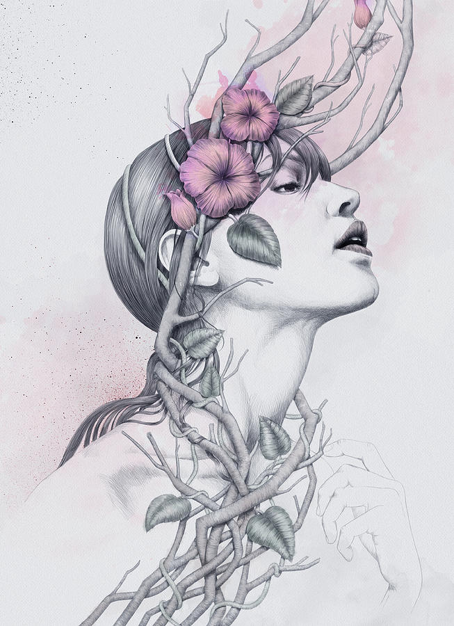 Woman Digital Art - 196 by Diego Fernandez