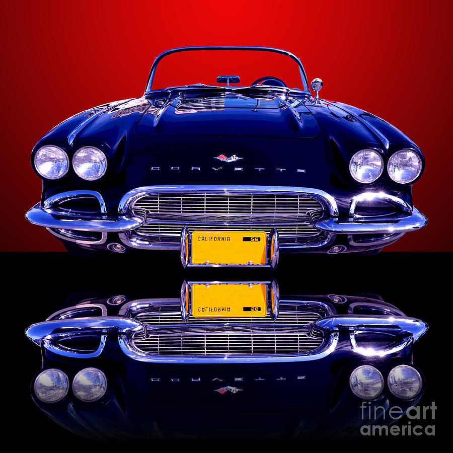 Car Photograph - 1961 Chevy Corvette by Jim Carrell