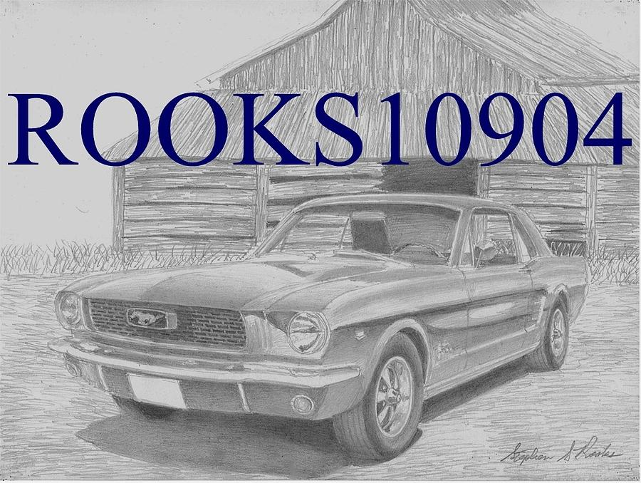 1966 Ford Mustang Classic Car Art Print Drawing