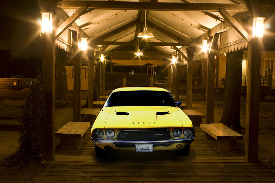 Hotrod Photograph - 1972 Challenger by Michael Cleere
