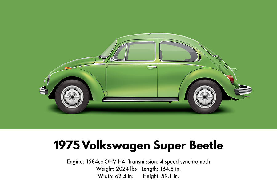 1975 Volkswagen Super Beetle Viper Green Metallic