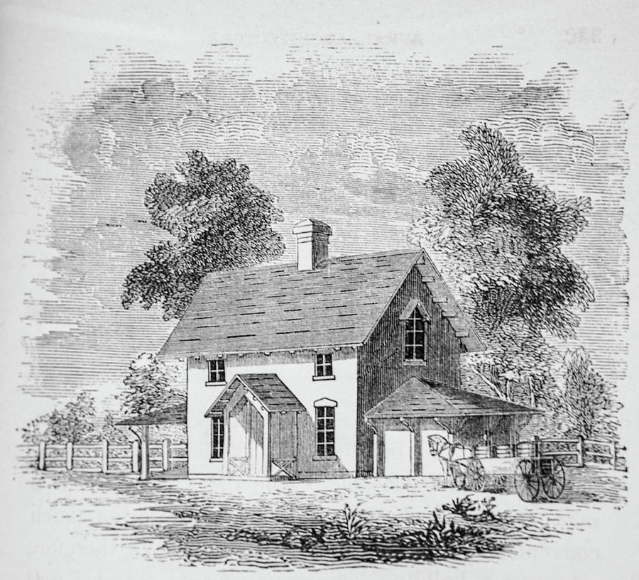 19th Century Farmhouse With Hourse And Wagon Photograph By