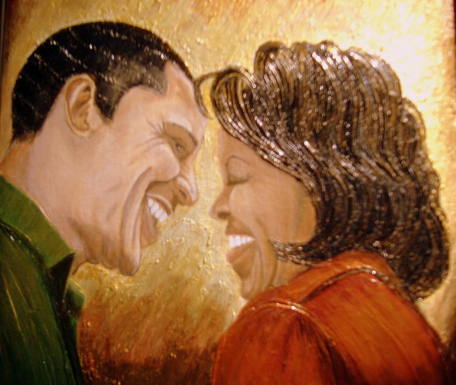 President Painting - 1st Couple  by Keenya  Woods