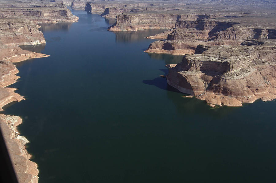 Boating Photograph - Aerial View Of Lake Powell by Carl Purcell