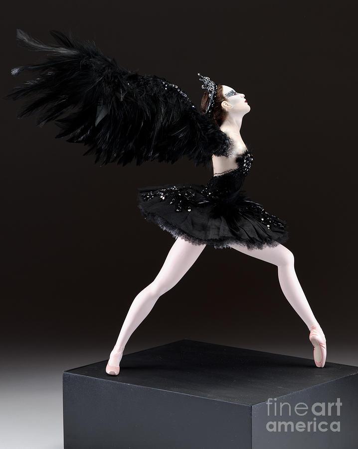 Black Swan Sculpture - Black Swan  by Vickie Arentz