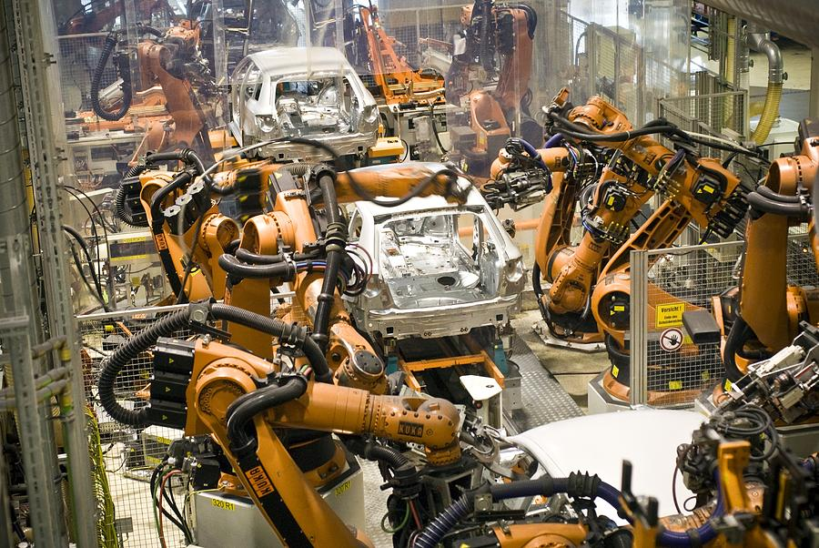 Vehicle Photograph - Car Factory Production Line by Arno Massee