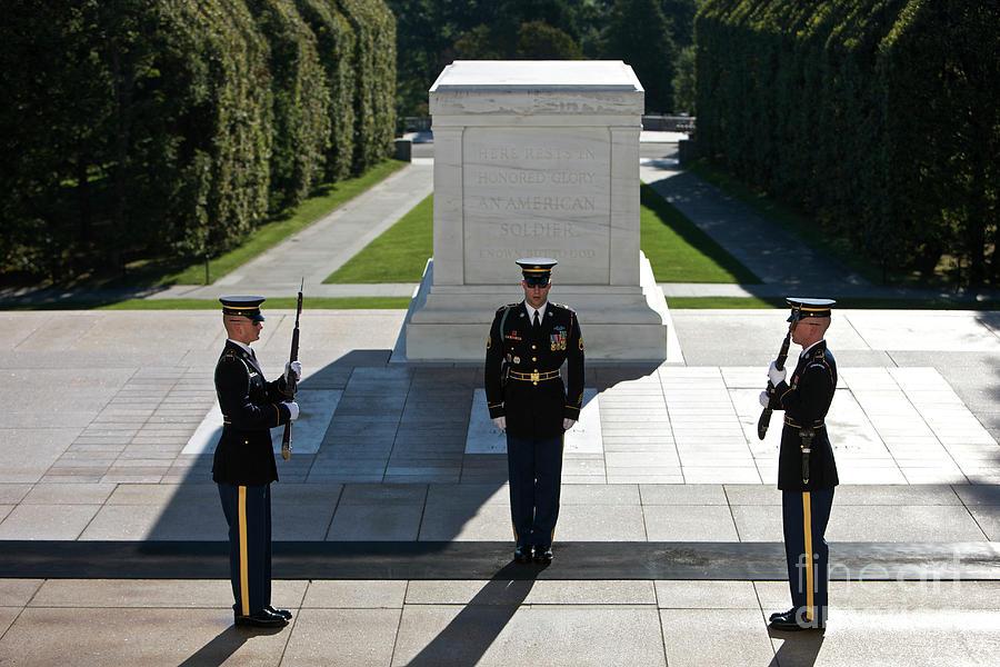 Changing Of Guard At Arlington National Photograph