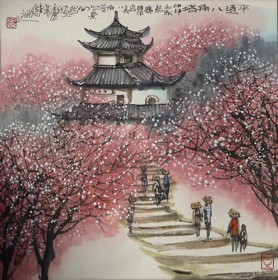 chinese painting painting by jun wan