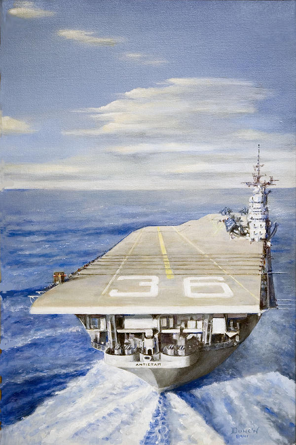 Aircraft Carrier Approach Painting - First Cant by Bob Duncan