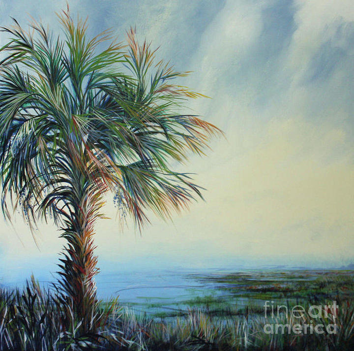 Palm Tree Painting - Florida Horizons by Michele Hollister - for Nancy Asbell