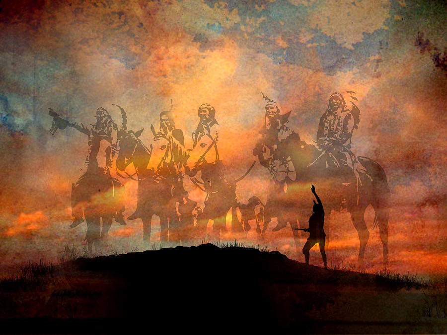 Native Americans Painting - Forefathers by Paul Sachtleben