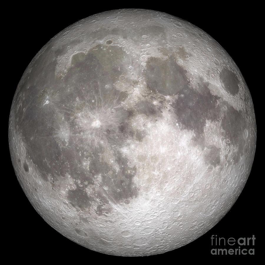 Digital Composite Photograph - Full Moon by Stocktrek Images