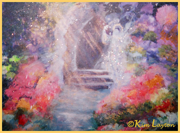 Angel Painting - Guardian Angel by Kim Layton