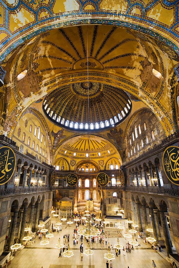 Hagia Photograph - Hagia Sophia Interior by Artur Bogacki