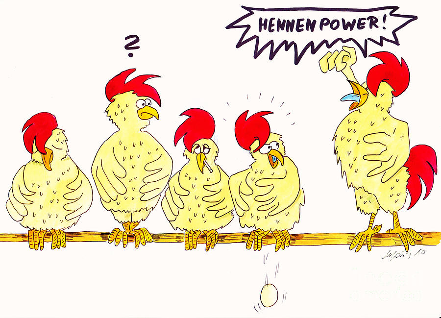 Hennenpower Painting