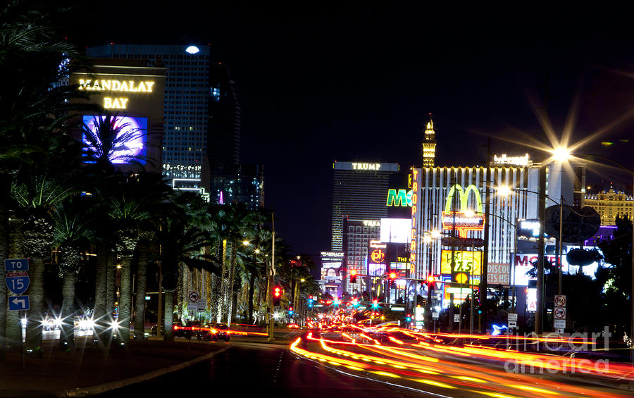 Was las vegas strip photographs