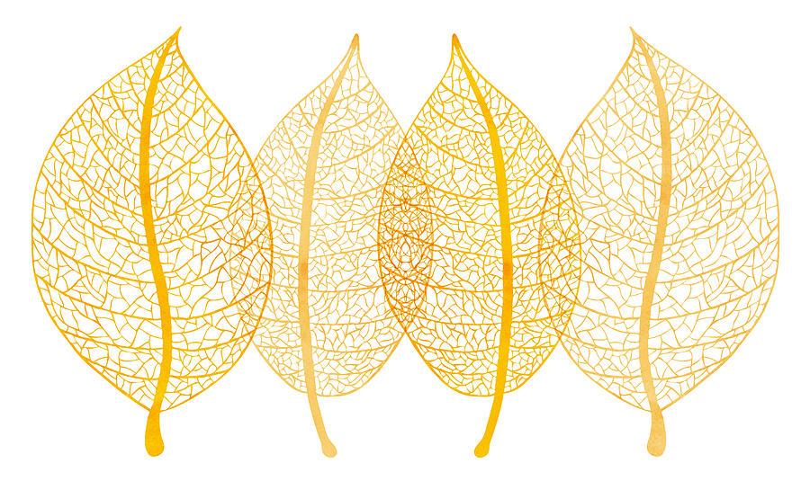 Frank Tschakert Painting - Leaves by Frank Tschakert