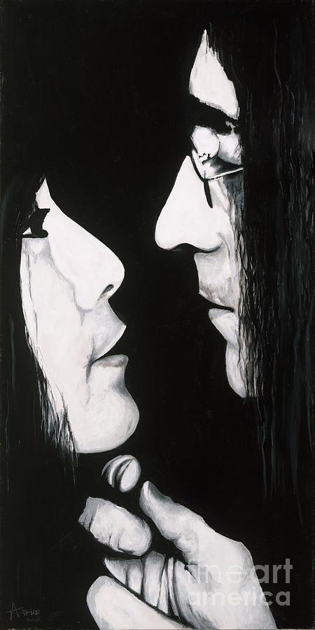 Lennon And Yoko Ono Painting - Lennon And Yoko by Ashley Price