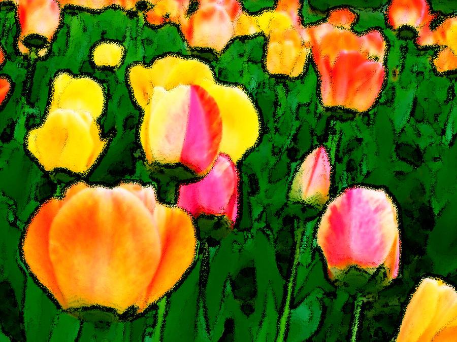 Flowers Painting - 2 Lips by Leonard Rosenfield