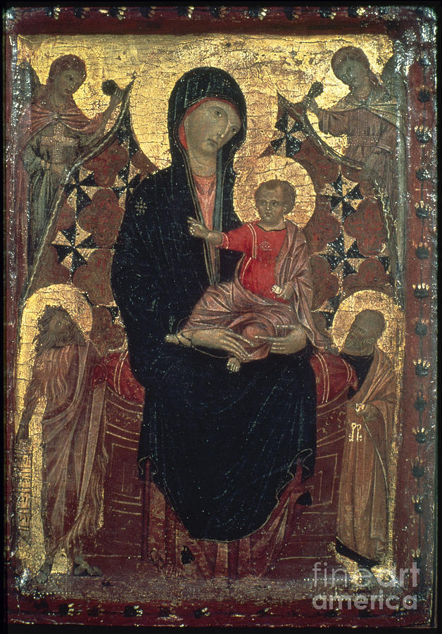 1290s Photograph - Madonna And Child by Granger