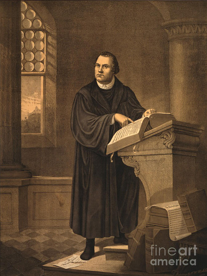 History Photograph - Martin Luther, German Theologian by Photo Researchers