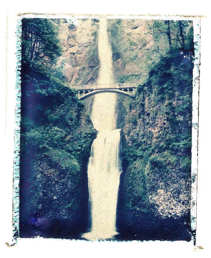 Polaroid Image Transfer Photograph - Multnoma Falls by Joe  Palermo