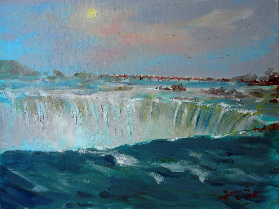 Landscape Painting - Niagara Falls by Ylli Haruni