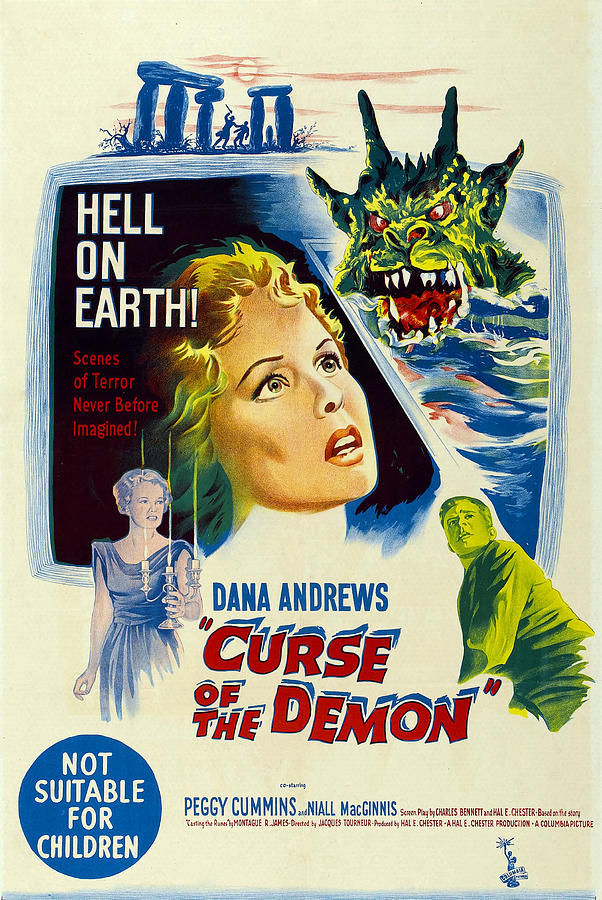 1950s Poster Art Photograph - Night Of The Demon, Aka Curse Of The by Everett