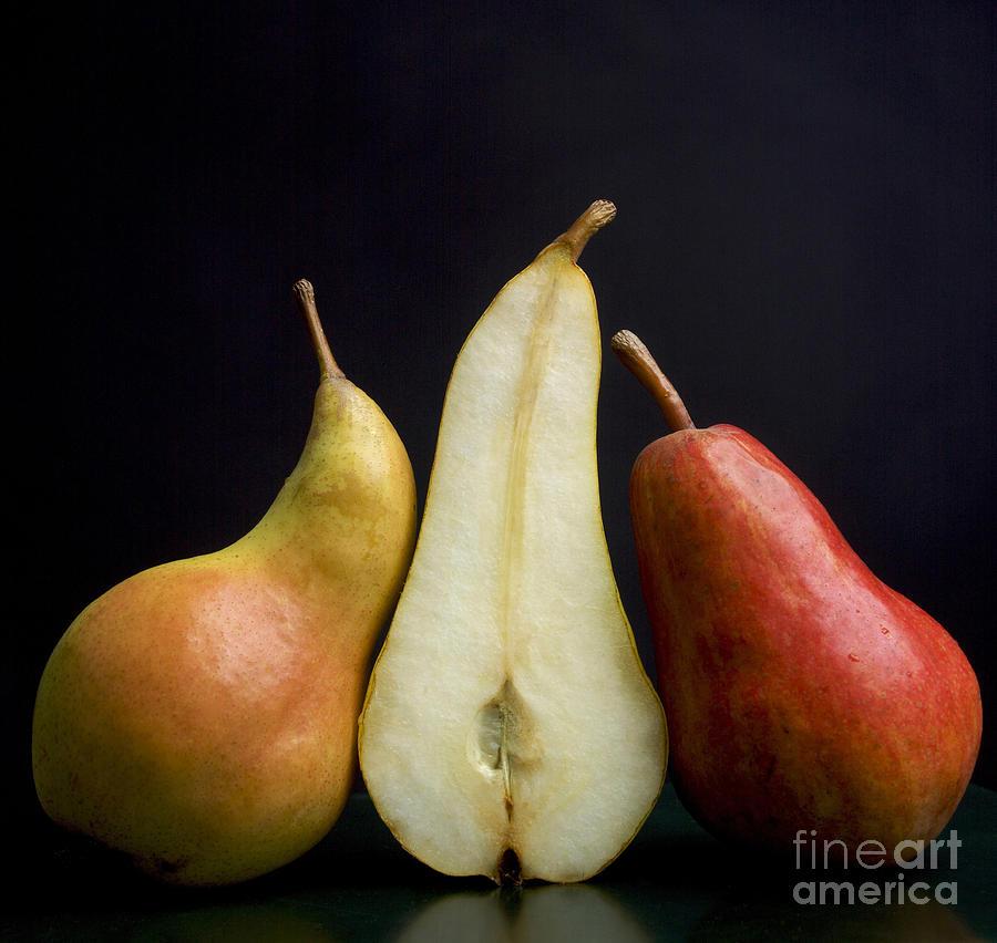 Studio Shot Photograph - Pears by Bernard Jaubert