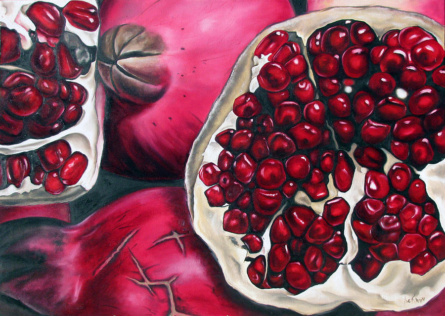 Pomegranates Painting by Ilse KleynPersian Pomegranate Art