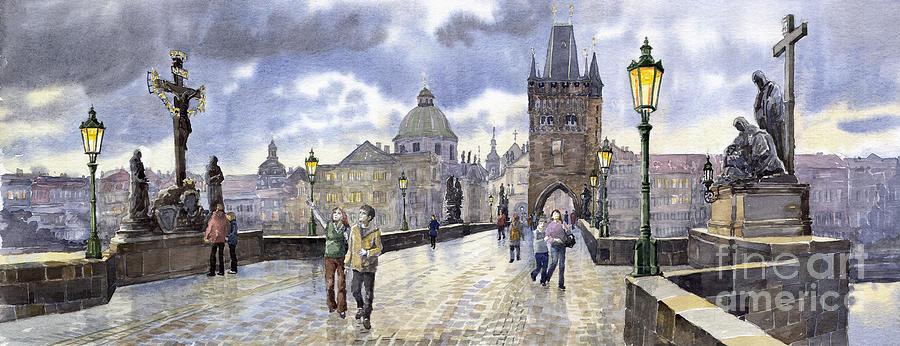 Prague Charles Bridge Painting