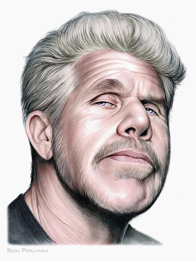 Ron Perlman Drawing