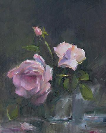Still-life With Roses Painting - Roses by Tigran Ghulyan