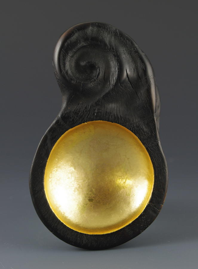 Vesery Sculpture - Sacred Spoon Of The Pemaquid Rock People by Jacques Vesery
