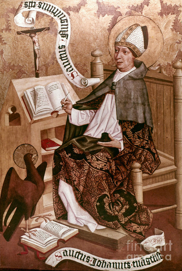4th Century Painting - Saint Augustine (354-430) by Granger