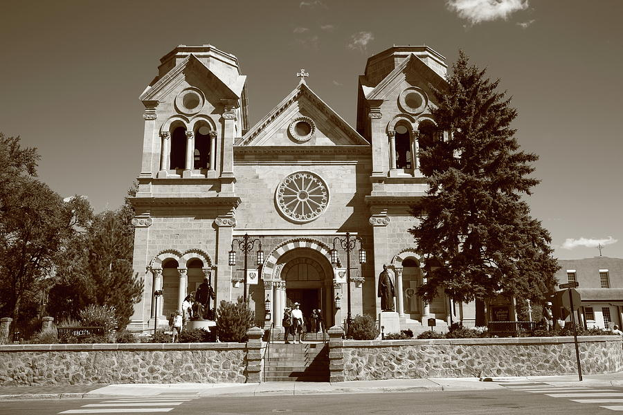 America Photograph - Santa Fe - Basilica Of St. Francis Of Assisi by Frank Romeo