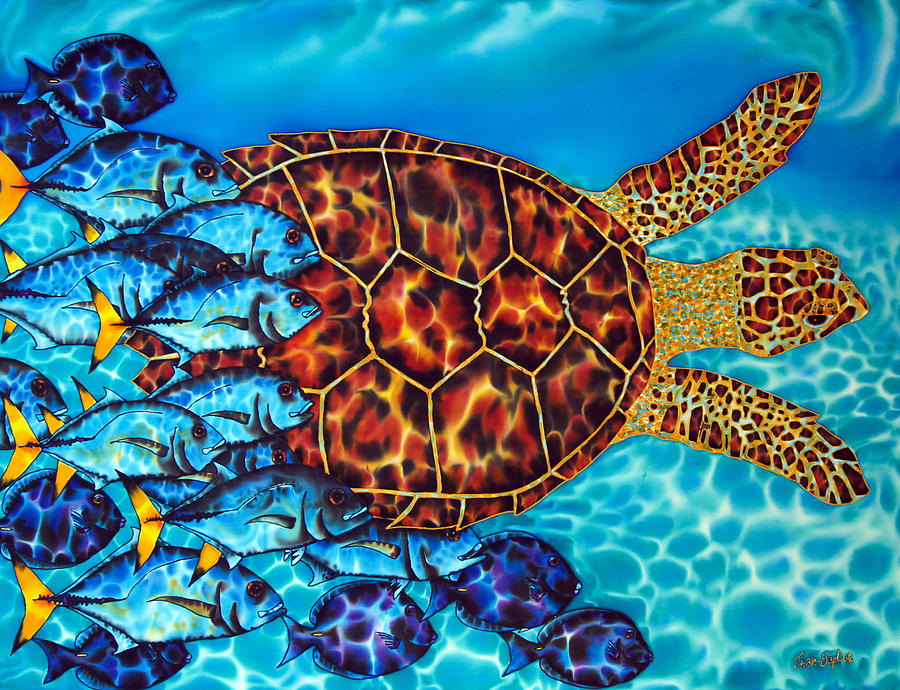 Sea Turtle is a painting by Daniel Jean-Baptiste which was uploaded on ...